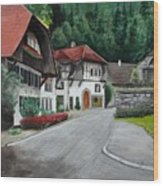Austrian Village Wood Print