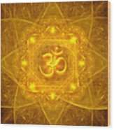 Authentic Om  Wood Print