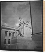 Authority Statue At The Courthouse In Memphis Tennessee Wood Print