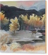 Autimn Buck Wood Print