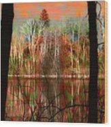 Autmn Waters Wood Print