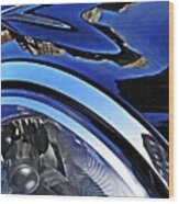 Auto Headlight 27 Wood Print