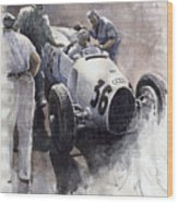 Auto Union B Type 1935 Italian Gp Monza B Rosermeyer Wood Print