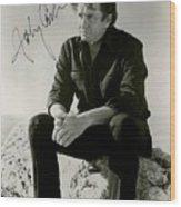 Autographed Cash Wood Print