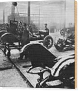 Automobile Manufacturing Wood Print