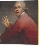 Autoportrait En Homme Surpris Et Terroris 1791 Wood Print