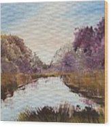 Autum Forrest Wood Print