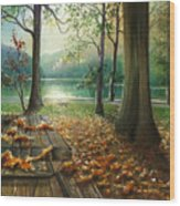 Autum Splendor Bunzen Lake Wood Print