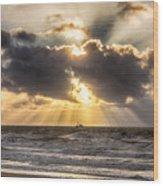 Autum Storm 001 Wood Print