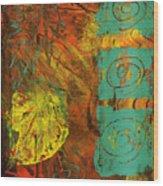 Autumen Abstract Wood Print