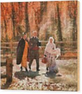 Autumn - People - A Walk In The Countryside Wood Print