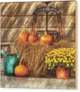 Autumn - Pumpkin - A Still Life With Pumpkins Wood Print