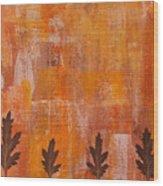 Autumn Abstract Art  Wood Print