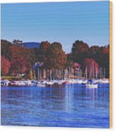 Autumn Along Lake Candlewood - Connecticut Wood Print