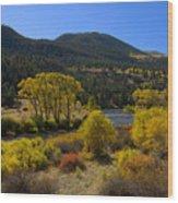 Autumn Along The Rio Grande Wood Print