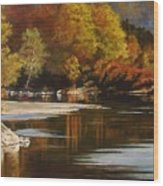 Autumn Along The Stillaguamish Wood Print