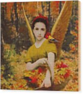 Autumn Angels Wood Print