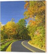 Autumn Appalachian Drive Wood Print