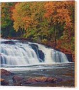 Autumn At Buttermilk Falls Wood Print