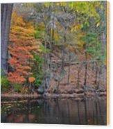 Autumn At Echo Bridge Wood Print