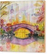 Autumn at Gapstow Bridge Central Park Wood Print