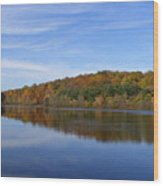 Autumn At Lake Mohegan Wood Print