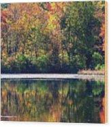 Autumn At Laurel Lake Wood Print