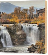 Autumn At Lundbreck Falls Provincial Park Wood Print