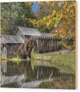 Autumn At Mabry Mill Wood Print