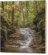 Autumn At Mill Creek Wood Print