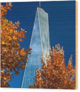 Autumn At One Wtc Wood Print