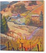 Autumn At Silvan Ridge Wood Print