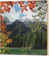 Autumn At String Lake Wood Print