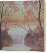 Autumn At The Falls Wood Print
