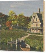 Autumn At The Lake Wood Print