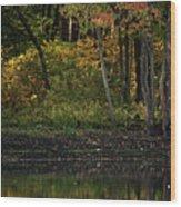 Autumn At Wrights Pond Wood Print