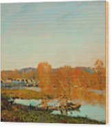 Autumn Banks Of The Seine Near Bougival Wood Print