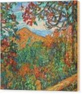 Autumn Beauty From Sharp Top Wood Print