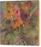 Autumn Blooms Wood Print