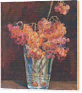 Autumn Bouquet Of Ashberries Wood Print