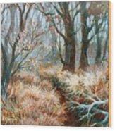 Autumn Brush Wood Print