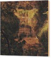 Autumn By The Argyle Creek Wood Print