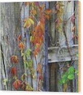 Autumn Collage Wood Print