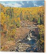 Autumn Color Along Beaver River Wood Print