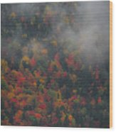 Autumn Colors In The Clouds Wood Print