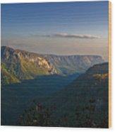 Autumn Colors Linville Falls Gorge IIi Wood Print