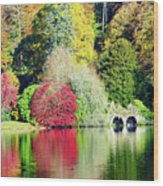 Autumn Colours By The Lake Wood Print
