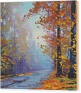 Autumn Colours Wood Print by Graham Gercken