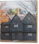 Autumn Comes To The Witch House Wood Print
