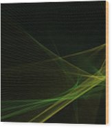 Autumn Computer Graphic Line Pattern Wood Print